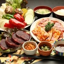 和食善・焼肉・鍋物‥など季節の食材を季節の味わい方で楽しんで頂きます。