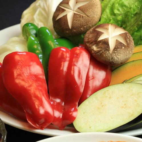 自家農園の野菜は無農薬の有機栽培♪
