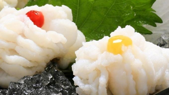 本場淡路島の「べっぴん」鱧を堪能!「湯引き、天ぷら」はも料理2品付き 海鮮ビュッフェ