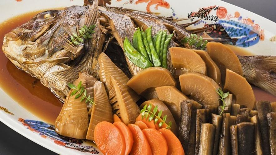 海鮮ビュッフェ:真鯛のアラ炊き