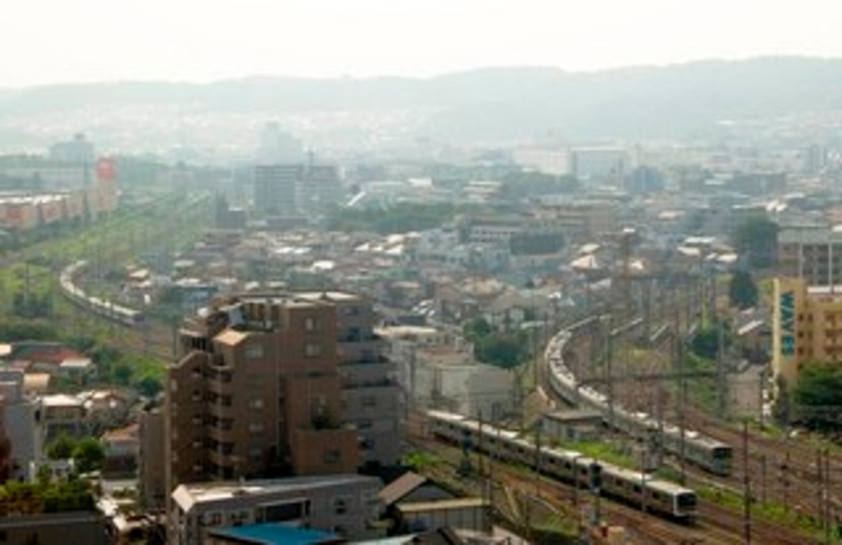 電車と多摩丘陵