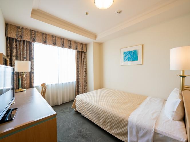 【スタンダードシングル】ほど良い広さと機能的なデザインのお部屋(120cmベッド★16.9㎡)