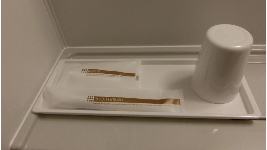 【洗面台】コップ・歯ブラシ・シェーバー
