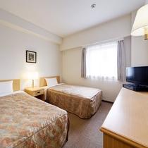 【ツインルーム】シングルベッド2台 ベッドサイズ:103×195(cm)