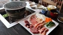 <夕食/一例>近隣の「こぶしの木」上質なお肉を炭火焼きで!