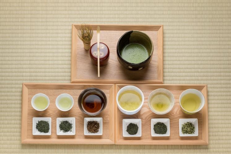 日本茶飲み比べ