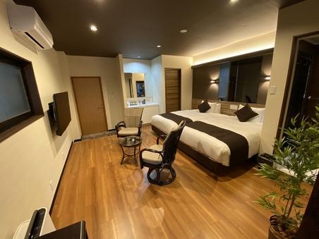 【NEW客室】洋モダン洋室 檜露天風呂付客室 23平米