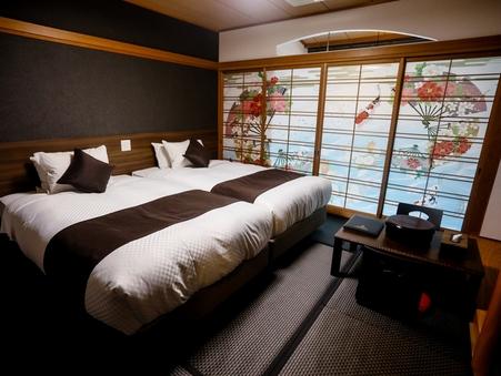 和モダン和室 檜露天風呂付客室 27平米■禁煙■