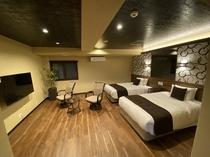 和モダン和洋室 檜半露天風呂付客室 64平米