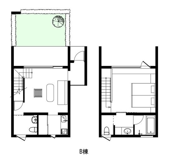 2階建ての間取り図です。