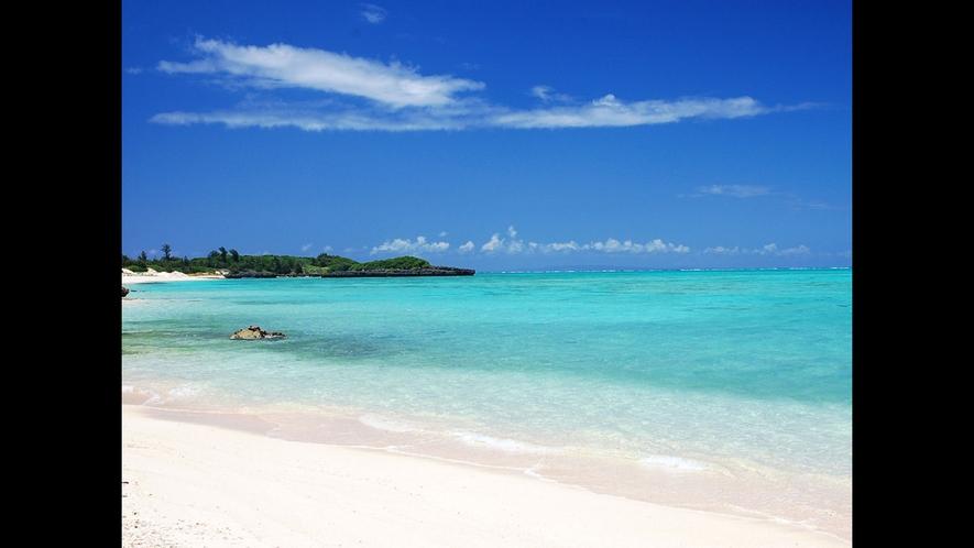 【大金久海岸】白砂の与論島最大のビーチ