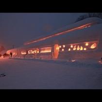 【雪旅籠の灯り】