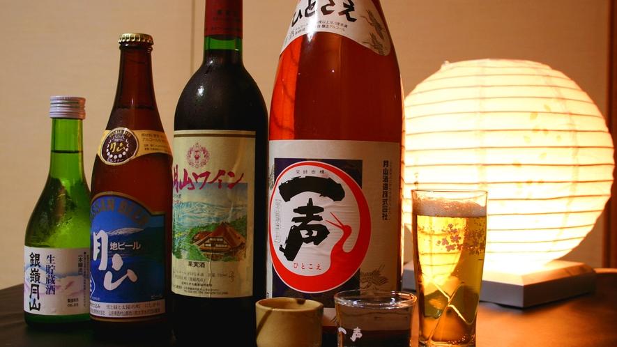 【お酒】豊かな自然が作り出す『水』のおかげで、美味しい地酒が豊富です。