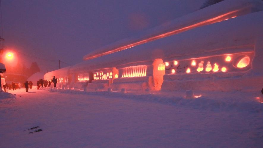 【雪旅籠の灯り】幻想的な雪の世界へ飛び込んでみませんか?