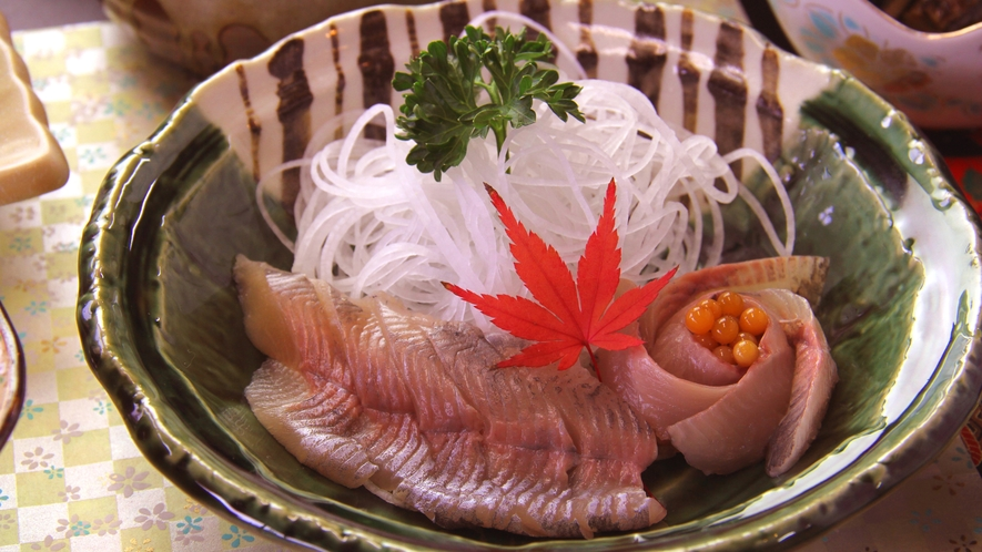 【お料理一例・堪能プラン】川魚のお刺身