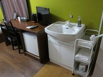 【客室】ダブルルーム・バス無し/バス無しのお部屋のみ洗面台完備
