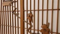 *[部屋]大山詣でをあしらった障子細工(一例)