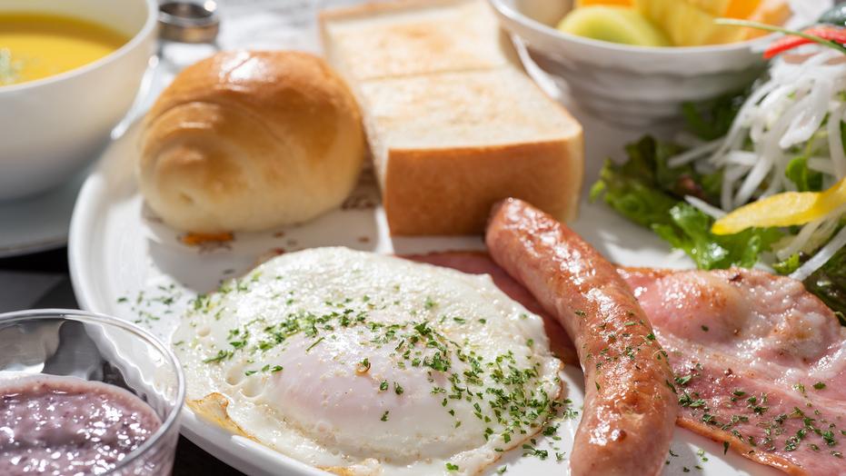 *朝食一例。