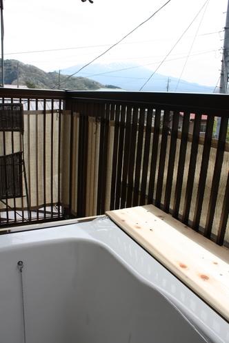 富士山と入浴・足湯