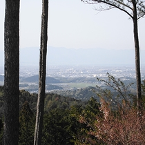 湖南平野、琵琶湖、対岸の比良山系までが一望できます