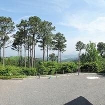 宿周辺は、金勝山の豊かな緑に囲まれています