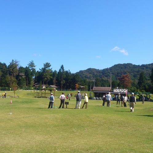こんぜの里の敷地内にグラウンドゴルフ場がございます