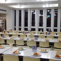 【食堂】夕食・朝食はこちらでお召し上がりください