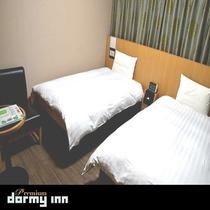 ツインルーム(19平米 ベッド幅:110×195センチ×2台)