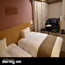 デラックスツイン28平米 ベッド幅:120×195センチ×2台