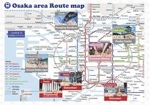 大阪エリア観光マップ