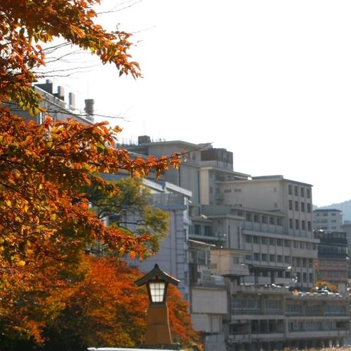 ◆【紅葉の下呂温泉街】