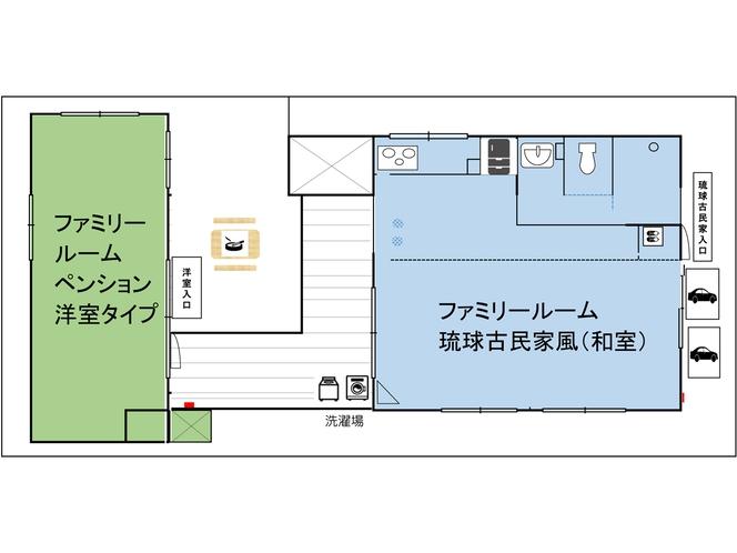 北からゆいまーるANNEX(別館)見取図