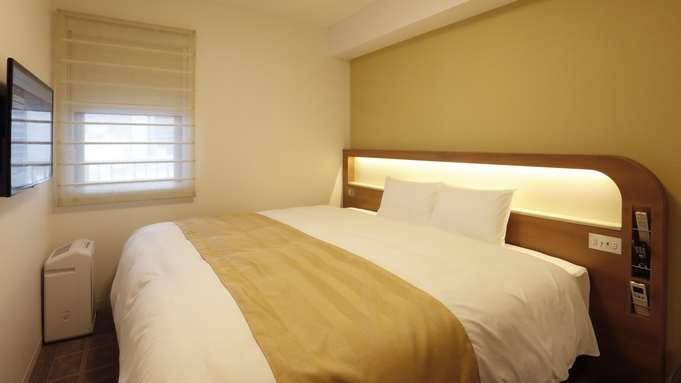 広めのベッド・お部屋を独り占め!ちょっとだけ贅沢に出張・一人旅(健康朝食付)