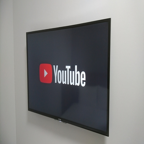 全室40インチテレビ設置(YouTube視聴可能)
