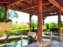 【露天檜風呂】炭酸泉とミネラル風呂がございます