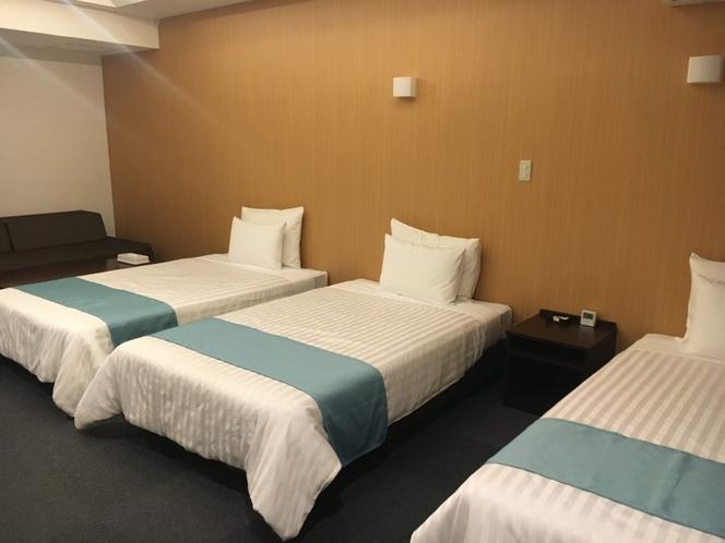 *トリプル/3名様利用のゆったり部屋。赤ちゃんの添い寝も可能です。