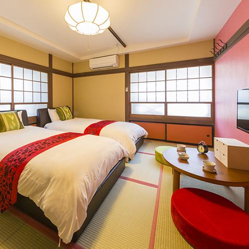えんどう豆のお部屋〜赤を基調としたモダンなお部屋です◆