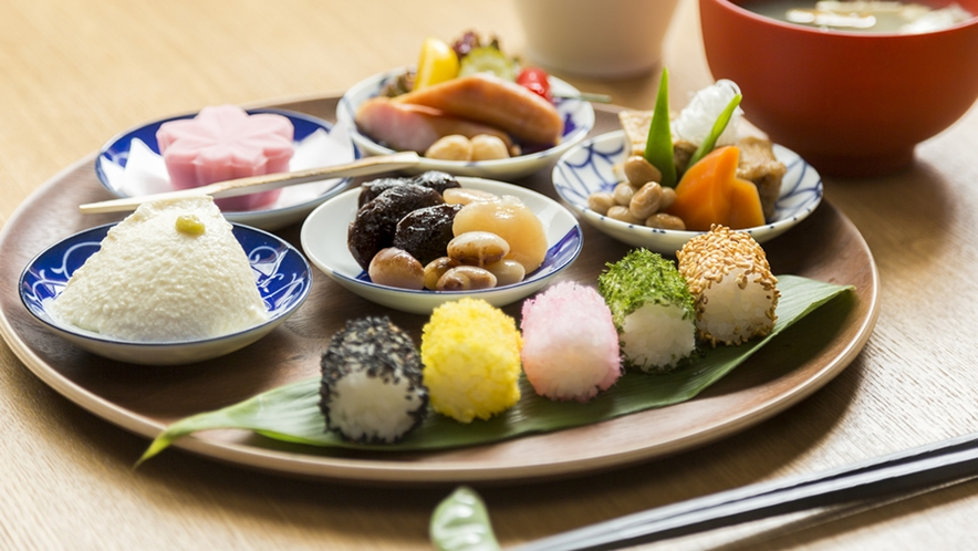 サービス「健康お豆の朝食膳」~御宿泊者さまにお豆をふんだんに使った無料朝食をどうぞ!:詳細用