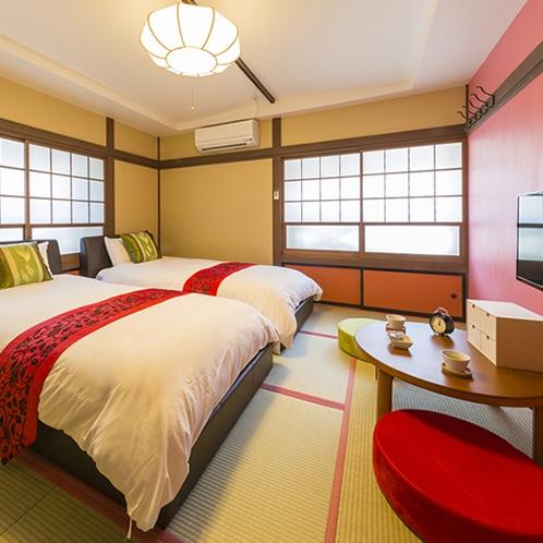 えんどう豆のお部屋~赤を基調としたモダンなお部屋です◆
