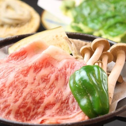 ☆料理_夕食_信州牛陶板焼き (2)