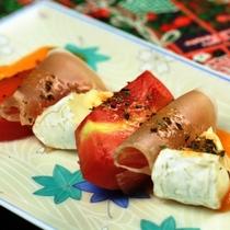 生ハム・トマト・チーズ