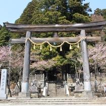 当館目の前にある戸隠神社中社