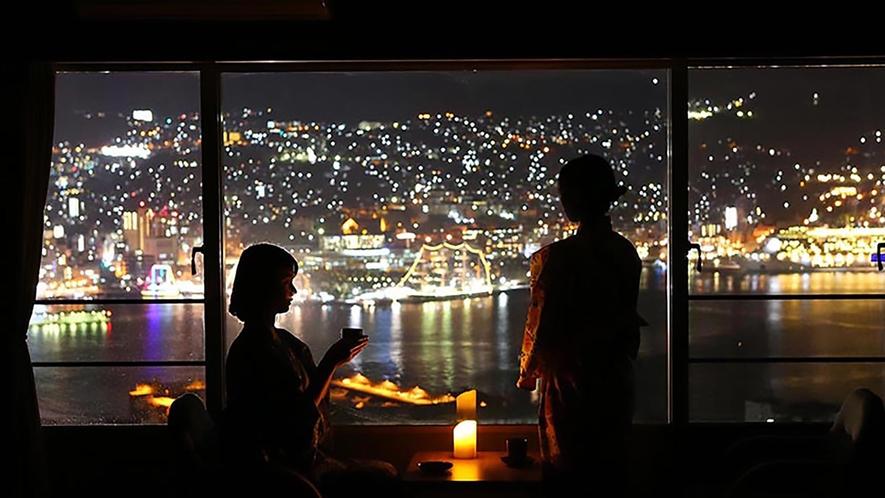 夜景の見える部屋