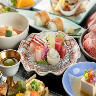 【夏旅セール】◆露天風呂付客室確約◆伊豆4大食材を満喫◆伊勢海老・鮑・金目鯛・あしたか牛など食べ比べ