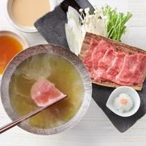 和牛の緑茶しゃぶしゃぶ[釜飯御膳]