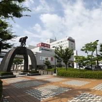 ホテルは鶴岡駅すぐ目の前