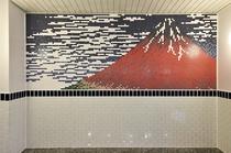 大浴場 赤富士