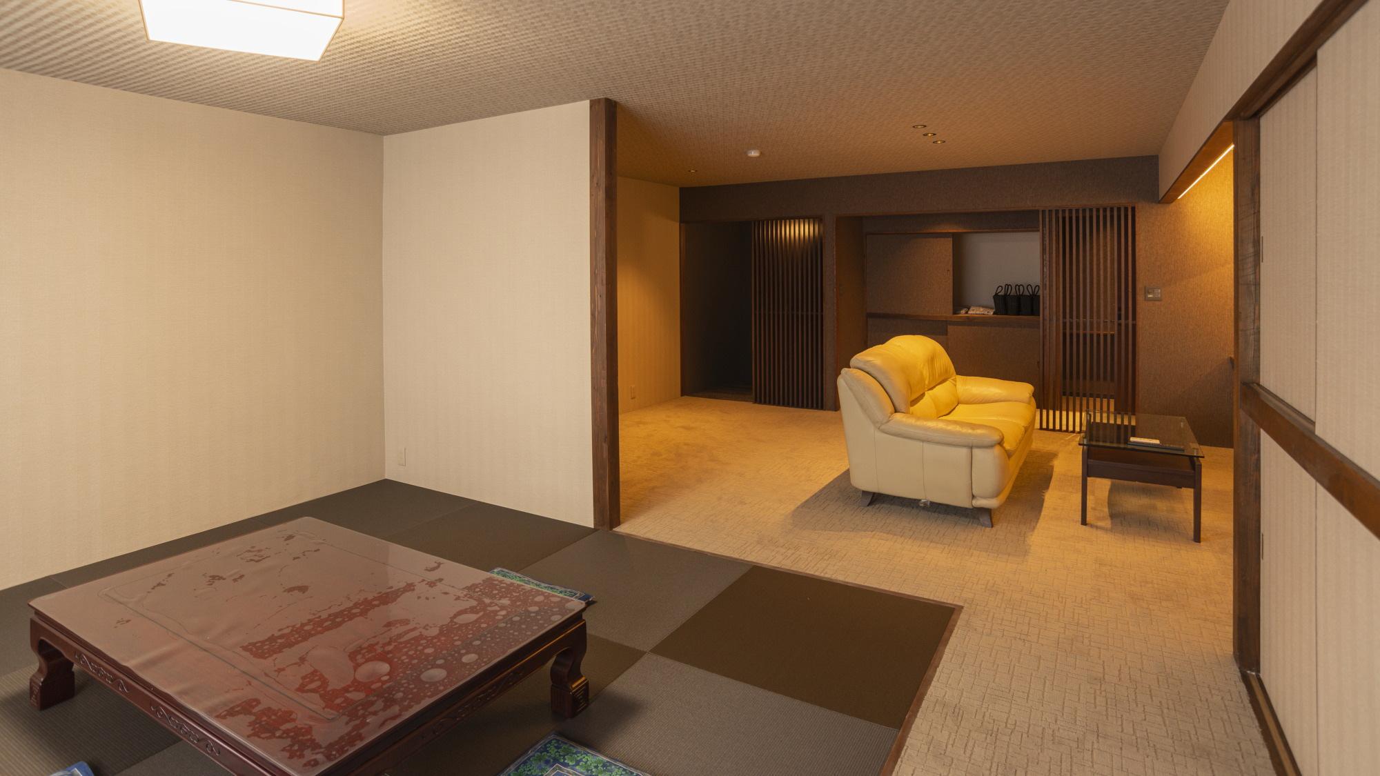 【和モダンコンフォート】リビングと和室がひと続きに、スタンダードよりもゆったり空間(写真は一例)