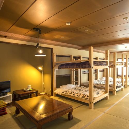 【和室22.5畳 2段ベッド3台】グループのお客様歓迎!6名様までご利用できます!