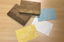 京からかみ体験・唐紙ポストカード